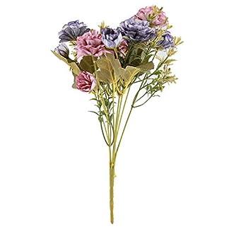 Ramo de flores artificiales de camelia, ramo de flores para exteriores, decoración del hogar, jardín, boda