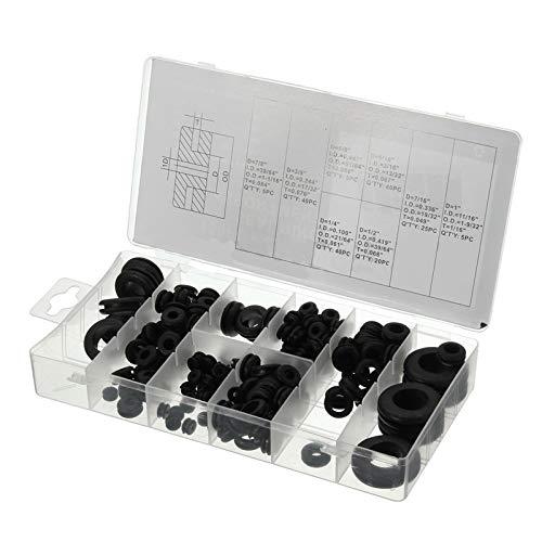 Preisvergleich Produktbild Yulakes 180pcs Gummi Tüllen Sortiment Kit Elektrischer Leiter Dichtungsring Satz für Draht,  Stecker und Kabel