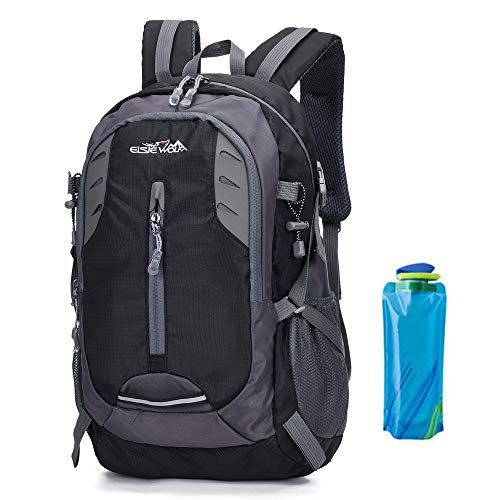 Zaini da Escursionismo 30L Leggero Zaino Grande Capacità per Donna Uomo Campeggio Viaggio Alpinismo Caccia Ragazza Ragazzo Outdoor Trekking Backpack Bag Multifunzione Water Resistant Nero (1-Nero)
