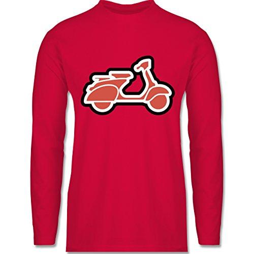 Shirtracer Motorräder - Roller Moped - Herren Langarmshirt Rot