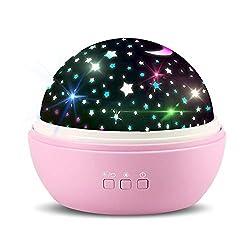 TOFOCO SP-1i Sternenhimmel Projektor Nachtlicht mit Drehfunktion, Stern und Ozean Projektions Thema für Kinder Baby Einzigartig Geschenke - Rosa