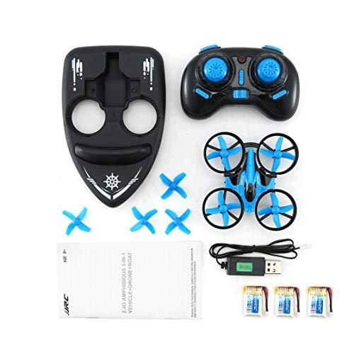 LouiseEvel215 3 in 1 RC Drone Vehicle Hovercraft Drone Telecomando Aircraft RTF RC Piccolo Regalo Giocattoli per Bambini con batterie