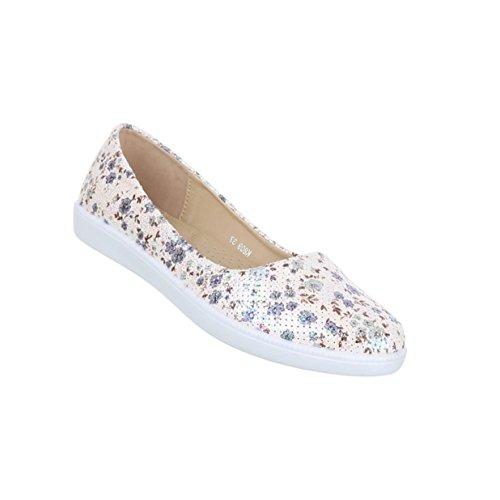 Damen Schuhe Ballerinas Slipper Blau
