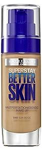 3 x Maybelline Superstay Better Skin Flawless Finish Foundation - 048 Sun Beige