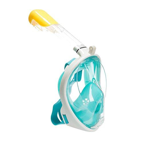 Trocent Tauchmaske, 180° vollgesichte Easybreath Schnorchelmaske mit Anti-Fog und Anti-Leck-Technologie für für GoPro Kamera, Erwachsene, Damen und Herren (Grün, M)
