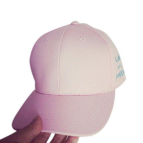 Preisvergleich Produktbild URIBAKY Stickerei Baumwolle deckelhalter Ikea Edelstahl kugelgrill schranktür Baseball Deckel Snapback Kappen Hüfte Hop Hüte (Rosa)