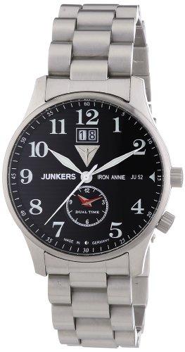 Junkers 6640M2 - Reloj analógico de cuarzo para hombre con correa de acero inoxidable, color plateado