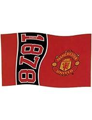 Manchester Utd United FC football depuis 1878 drapeau rouge partisan bannière