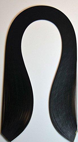 Quilling Papierstreifen breit 5mm /420mm lang, 125 Stück, Farbe schwarz