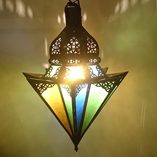 ""\'marroquí Techo""""Compartimiento lámpara 40cm  orientales marroquí Wind Luz Jardín Wind Luz | marroquí metal Farol para exterior como linterna, Jardín o interior como Farol de mesa""