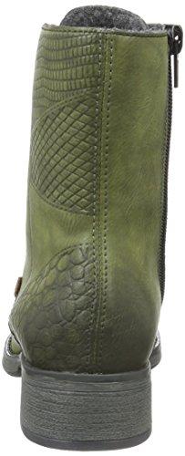 Rieker Y9718, Bottes Classiques Femme Vert (Leaf/Mogano/52)
