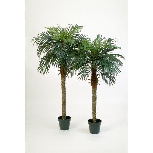 artplants Künstliche Phönix-Palme mit 21 Palmwedeln, 150 cm – Dekopalme/Kunst Palme