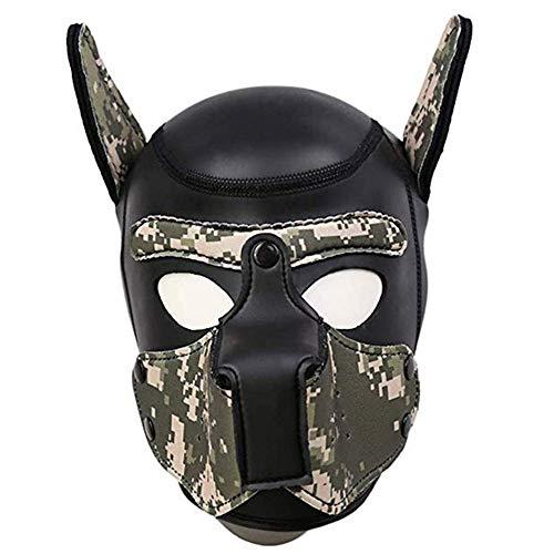 Kostüm Männlichen Partner - Bnmgh Neopren Vollmaske Hundehaube Benutzerdefinierte Tier Helm Roman Kostüm Hundehaube Für Rollenspiel Cosplay Männlich Weiblich