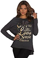 935 Fashion4Young Damen Langarm-Shirt Pulli Pullover verfügbar in 3 Farben Gr. 36/38