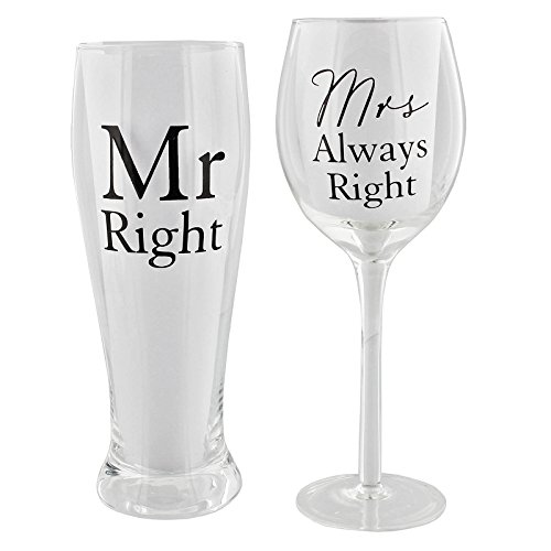 Mr Right und Frau Always Right Glass ()