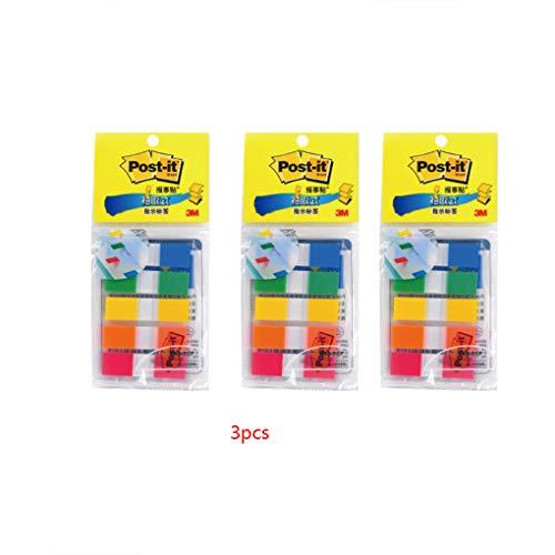 Morza 3pcs Bunte Durable Beschreibbare Repositionable Kunststoff Seite Marker Tab Flag Sticks
