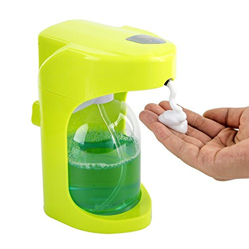 Automatischer Seifenspender,Misika Infrarot Smart Sensor Seifenspender Schaumseifenspender Seifendosierer 500ML für Küche Badezimmer Desinfektionsmittel Shampoo Emulsion Grün (Soap Hand Dispenser-grün)