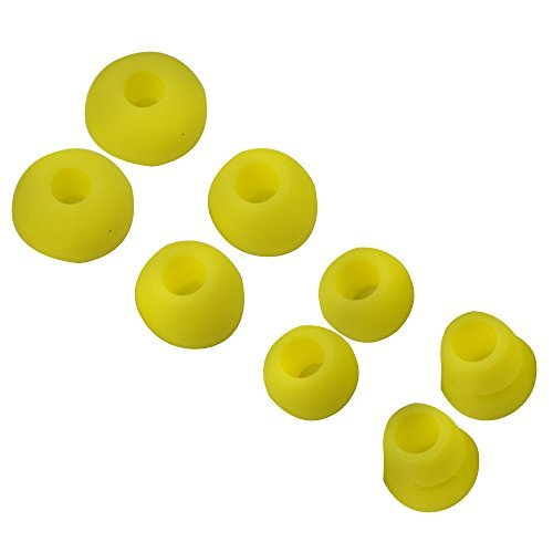 Asobilor 4 Paar Ohrstöpsel für Beats by Dr. DRE Powerbeats 2 Wireless Powerbeats 3 In-Ear-Kopfhörer gelb