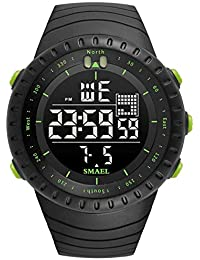 Blisfille Reloj con Ventosa Relojes 6 Blanco Hombre Reloj Fitness Hombre Relojes Water Resistant Hombre Relojes