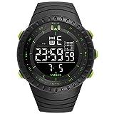Blisfille Uhr Damen LED Herrenuhr Partner Armbanduhr Multifunktional Grün Outdoor Sportuhr Armbanduhr Automatikuhr