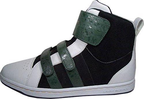 Creative Recreation testa Mid Bianco Nero Verde cr15220 Taglia 42/US 9/UK 8/27 cm