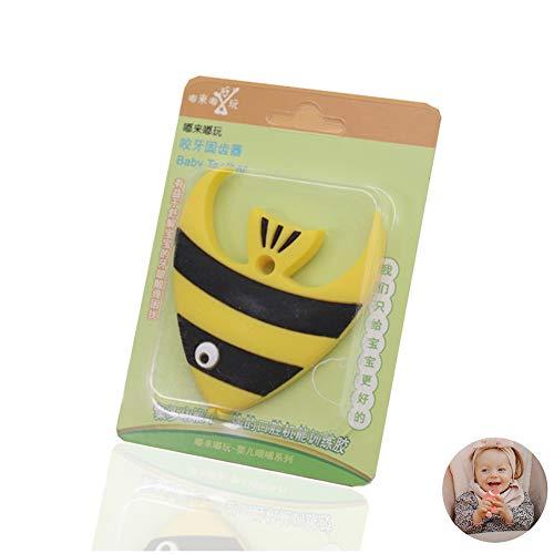 Baby-Teething Teether kauen Spielzeug Bio-Fisch Form Teether Baby-Zahn Spielzeug (gelb)