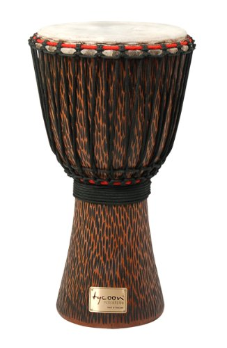 tycoon-percussion-taj-12co-12-inch-hand-carved-african-djembe-chiseled-orange