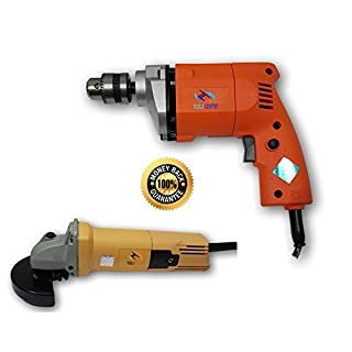 Tools Centre Fantastic Combo With 10mm Electric Simple Drill Machine With 850W Angle Grinder Machine.