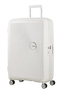 American Tourister Soundbox Spinner Espandibile Bagaglio A Mano, 55 cm, 35,5/41 L, 2,6 Kg, Bianco (Pure White) (B07283KPZH) | Amazon price tracker / tracking, Amazon price history charts, Amazon price watches, Amazon price drop alerts