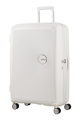 American Tourister - Soundbox Spinner Extensible, 55cm, 35,5/41 L - 2,6 KG, Blanc (Pure White)
