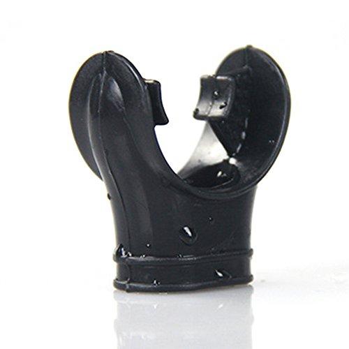 Détendeur de plongée, Embout en Silicone Embout buccal Tuba pour Tuba de plongée, Taille Standard, Grade Alimentaire Comfort Bite, Noir(Noir)