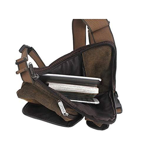 Männer Taktische Multifunktionale Leinwand Freizeit Taschen Drop Bein Oberschenkel Bein Tasche Utility Gürteltasche Bein Taschen Outdoor Fahrrad Motorrad Reise (Color : Brown, Size : M) -