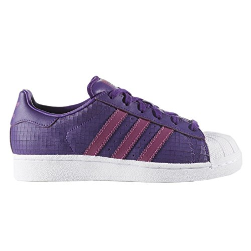 adidas Originals Superstar J, Cpurpl,Shopur,Ftwwht, 4 Medium US