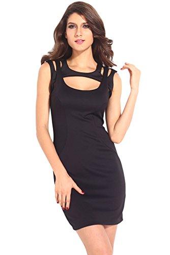 Dissa® femme Noir SY21290-2 robe de cocktail Noir