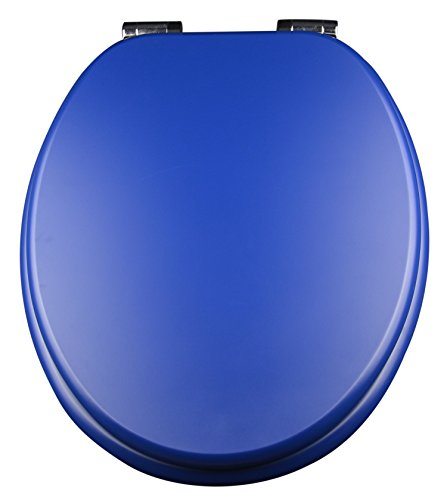 EISL Asiento para inodoro Spirit con descenso automático, 1pieza, azul, ed09550sc