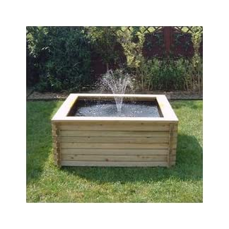SQUARE RAISED GARDEN POOL 60 GALLON + LINER + PUMP FISH POND TANK EASY DIY SQUARE RAISED GARDEN POOL 60 GALLON + LINER + PUMP FISH POND TANK EASY DIY 41lo9bpXiJL