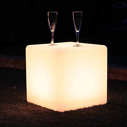 Paddia Wasserdichte verstellbare 16 RGB-Farbe 4 Modi Wiederaufladbare Batterie Fernbedienung LED-Würfel Licht Hocker Farbwechsel Stimmung Lampe Outdoor Garten Bar Möbel Sitz Garten Party -