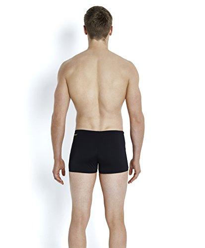 SPEEDO Damen Badeanzug MONOGRAM - 8-087508663-compéticion, für Jungen bunt Multicolore - Blue Marino/Blue Size 4-5 schwarz - Black/Global Gold
