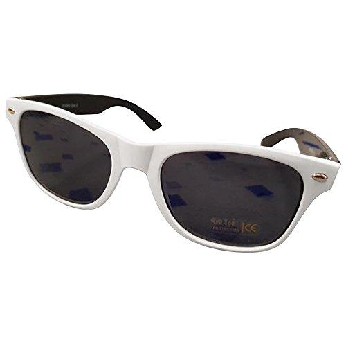 Ciffre Sonnenbrille Nerdbrille Nerd Brille Pilotenbrille Look Weiß Schwarz Smoke Dunkle Glässer SC1