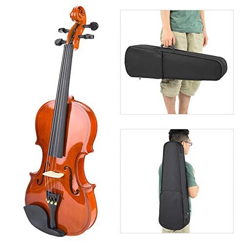 SISHUINIANHUA Violin Set Natural 4/4 Handgefertigte Akustische Violine Mit Saiten Kolophonium Box Saiten Musikinstrument Zubehör