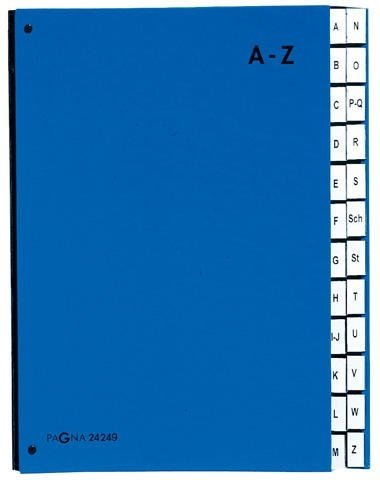 Pultordner A4 A-Z rot