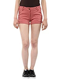 Marie Lucent Short for Womens in Peach Color with Cotton Fabric