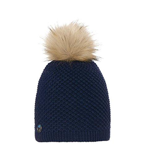 Tête fait Bonnet en tricot pour femme Bleu - marine