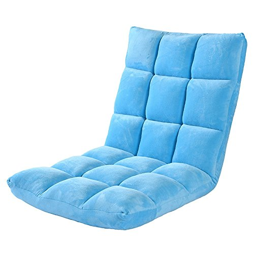 Canapé Chaise Loisirs Pliable Chaise d'Ordinateur Kaki/Ciel Bleu/Rose Rouge/Brun (Couleur : Bleu)
