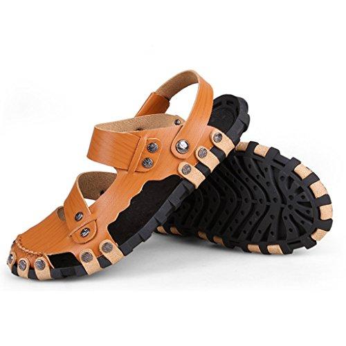 Eagsouni® sandales Bout Fermé Homme Beach doux mode confortable Sandales jaune marron