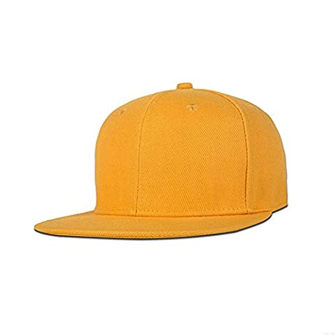 GADIEMENSS Stylish Flat Bill Plain Snapback Hats Hip-hop Hat Baseball Cap Visor Adjustable Size (Variety of colors and designs)(All
