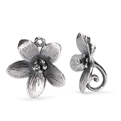 Trollbeads Silber Earring Trollanemone - Ohrringe