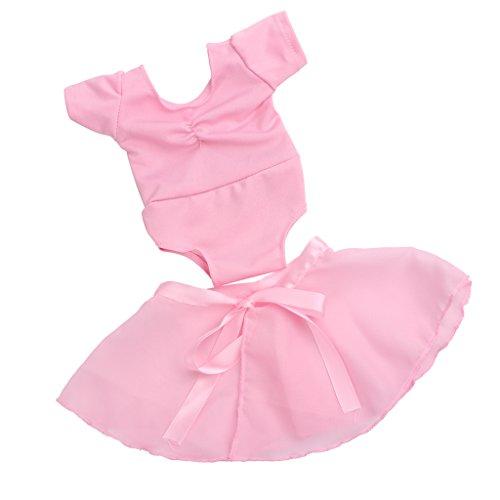 MagiDeal Pink Puppenkleidung Ballettkleid Ballettanzug Bekleidung für 18 Zoll American Girl Puppen (2er-Set)