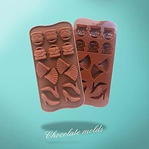 Chaussures à talons hauts & Fan Silicone Chocolat Moule à gateau pâtisserie cuisine décoration outils