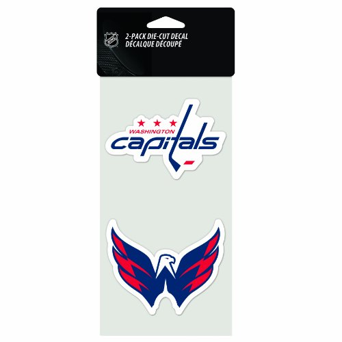Wincraft NHL Aufkleber/Aufkleber, gestanzt, 10,2 x 20,3 cm, 2 Stück, Washington Capitals
